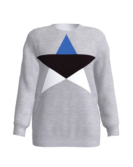 GREY ESTONIAN STAR SWEATER