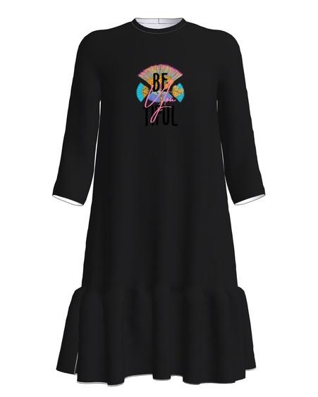 BEYOUTIFUL Dress Frill Black
