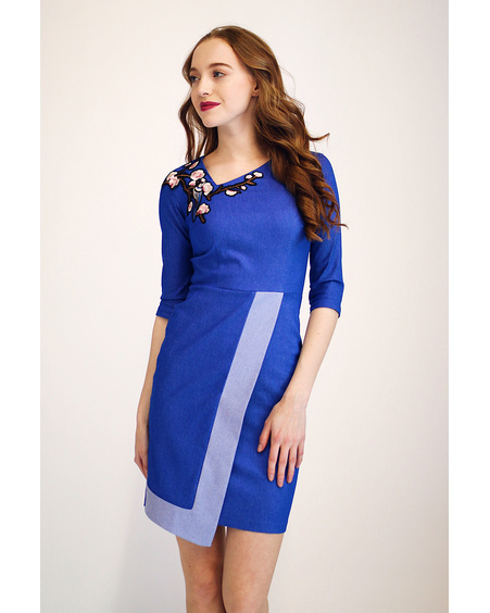 COOL FLAP DENIM DRESS