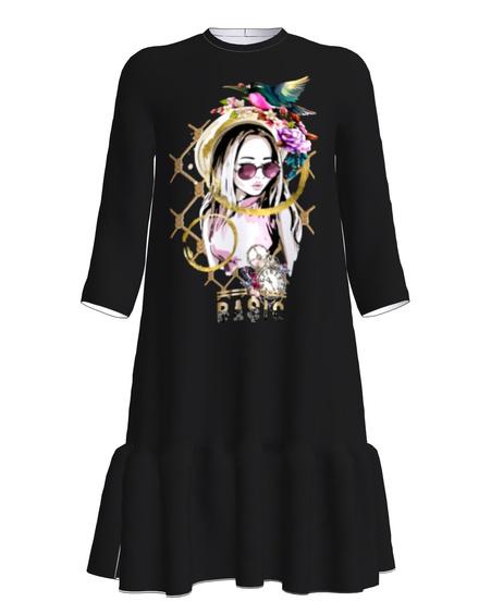 GIRL GLORY Dress frill black