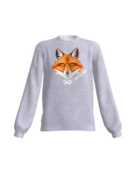ANIMAL NOT ENEMY FOX SWEATSHIRT LIGHT GREY