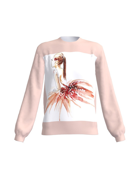 Dreaming Ballerina Women's Regular Sweatshirt Pink