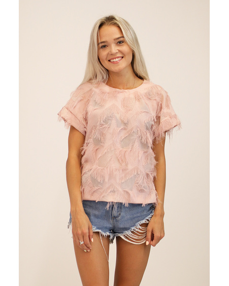 PEACHY FRINGE TOP