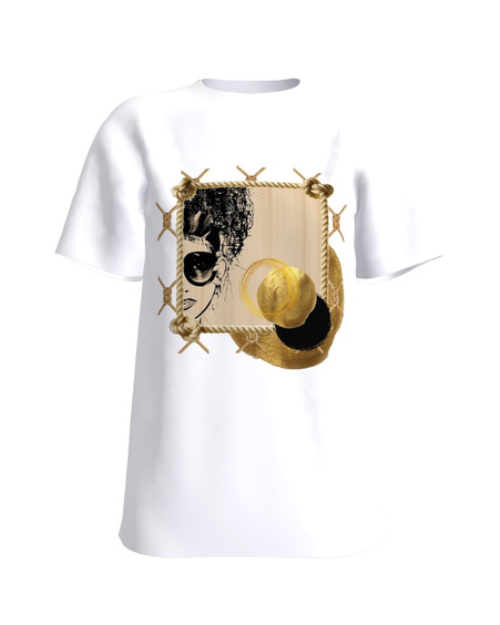 GOLDEN GODDESS white t-shirt