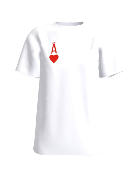 HEARTS ACE PRINT T-SHIRT WHITE