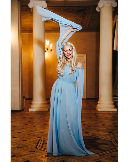 FLOWY MAXI DRESS SKY BLUE