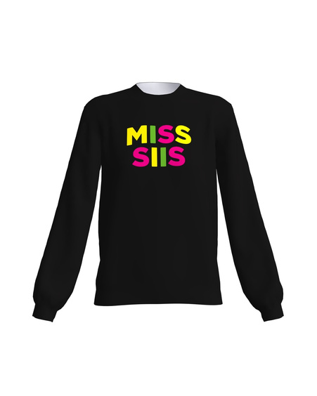BLACK NEON MISS SIIS SWEATER