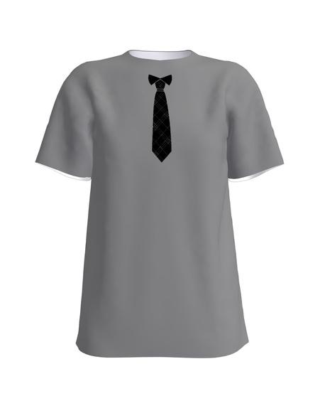 Tie T-Shirt UNISEX Dark Grey