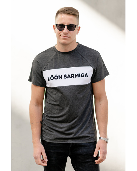 MEN LÖÖN ŠARMIGA T-SHIRT DARK GREY