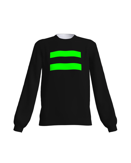 BLACK GREEN NEON EQUAL SWEATER