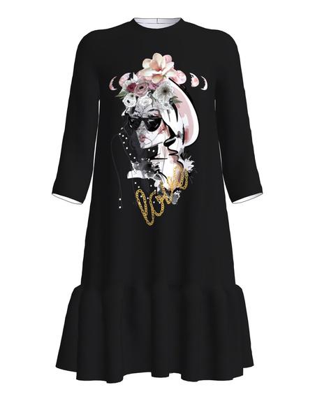 Dress Frill Black