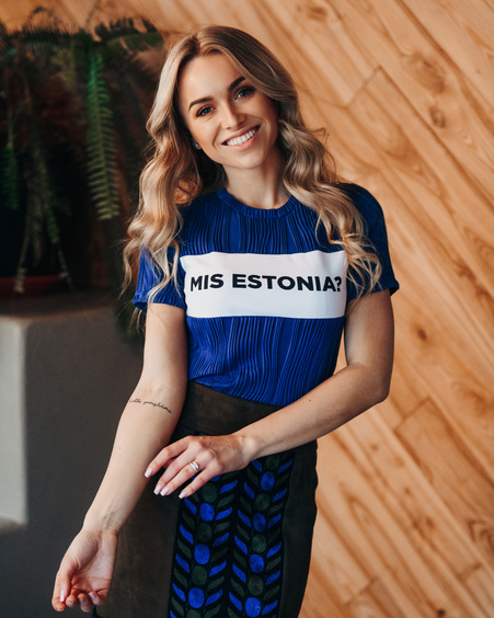 MIS ESTONIA? WAVE T-SHIRT BLUE