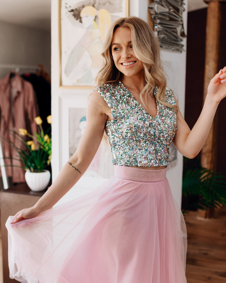 SEQUIN BRILLIANT CROP TOP