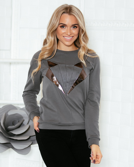 DARK GREY FOX SWEATER