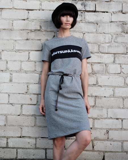 GREY SÄUTSUPÄÄSUKE JUMPER DRESS