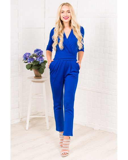BLUE ELEGANT JUMPSUIT