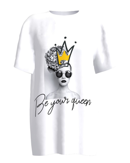 Be your queen white women's t-shirt