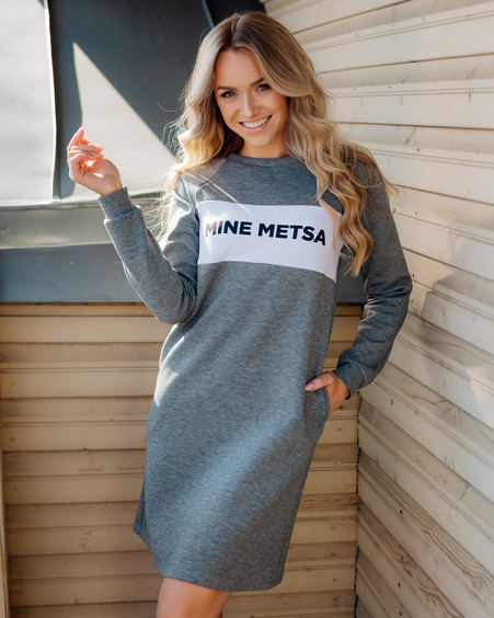 MINE METSA GREY SWEATSHIRT DRESS