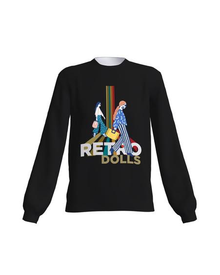 RETRO DOLLS SWEATSHIRT BLACK