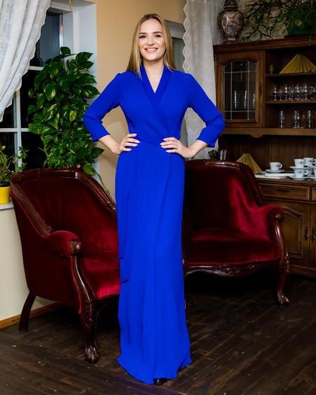 MOON MAXI DRESS BLUE
