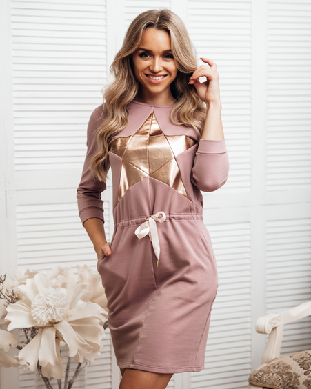 MAUVE STAR JUMPER DRESS