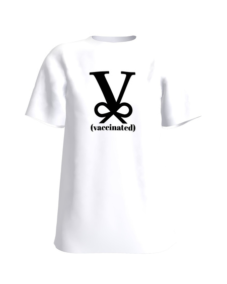 VACCINATED SLIM T-SHIRT WHITE