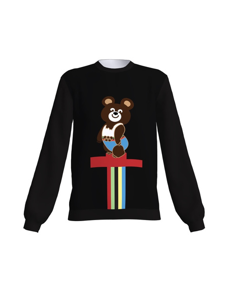 OLYMPIC BEAR BLACK SWEATER