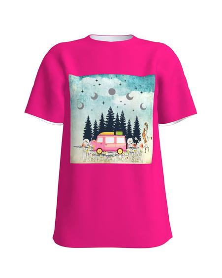 T-shirt pink TRAVEL