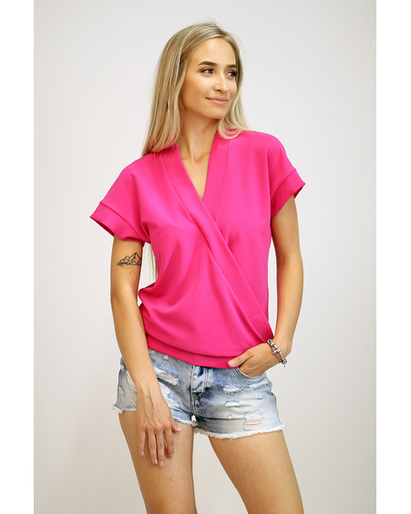 FUCHSIA DIAGONAL LAYER SHIRT