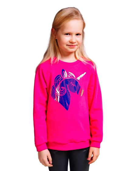 UNICORN KIDS SWEATSHIRT FUCHSIA