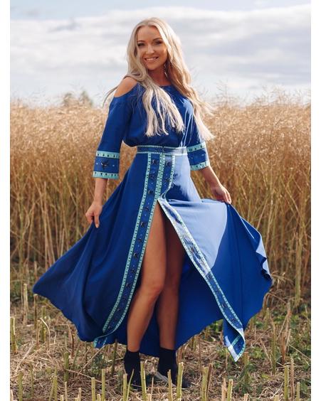HARMONY MAXI SKIRT ELECTRIC BLUE