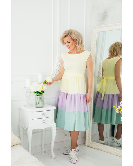 RAINBOW FRILL DRESS