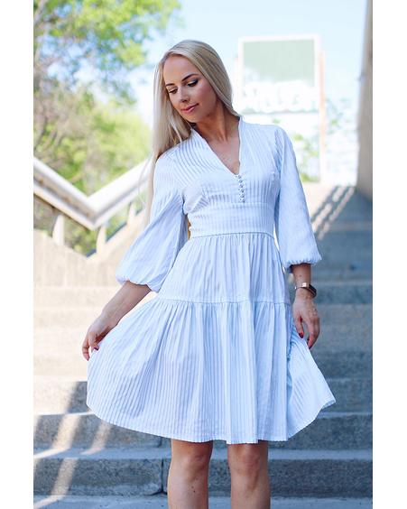 ANGIE STRIPE DRESS BLUE