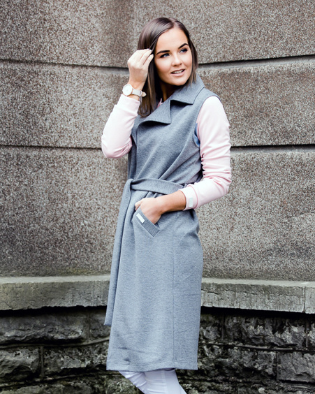 GREY DREAM SLEEVELESS JACKET