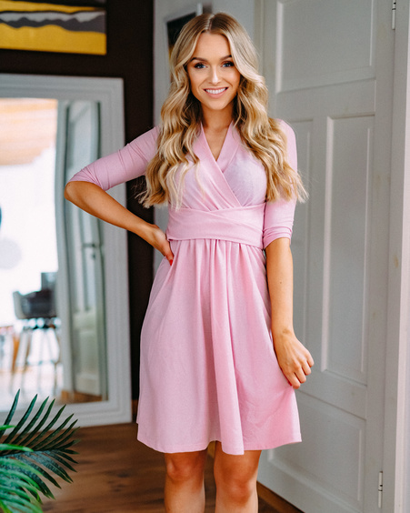 PINK SPARKLE ELEGANT DRESS