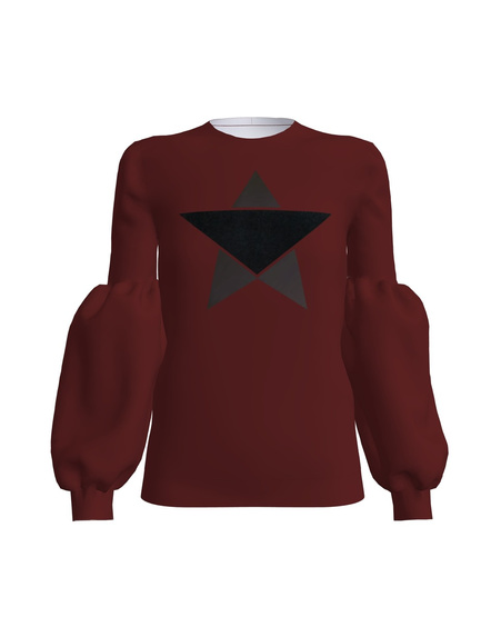 STAR ALICE SWEATSHIRT BORDEUX