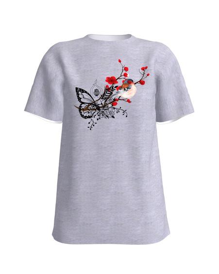BIRD T-Shirt H UNISEX White light grey