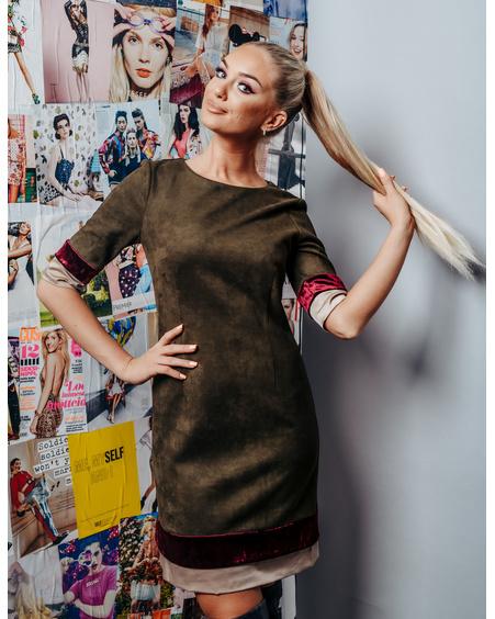 GREEN LAYERCAKE DRESS