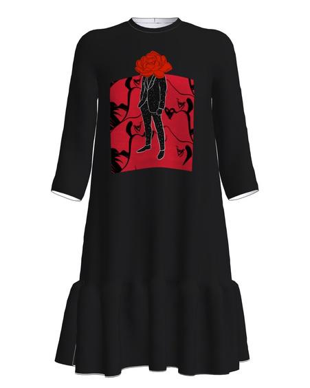 Dress frill black ROOSIÕISNAISTELE