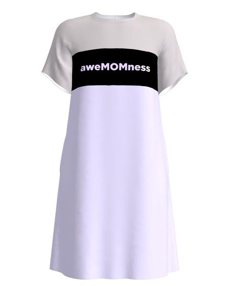 aweMOMness NURSING DRESS LILAC & GREY