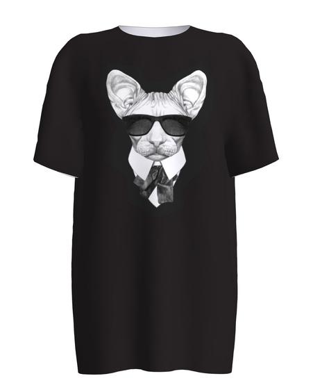 MAFFIA CAT UNISEX T-SHIRT BLACK