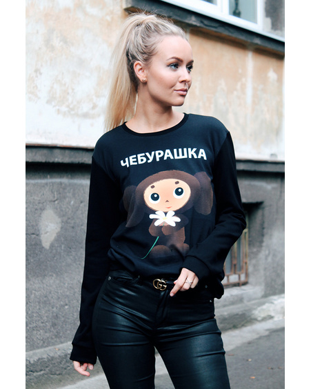 TŠEBURAŠKA BLACK SWEATER