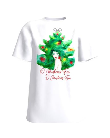 O CHRISTMAS TREE WHITE PRINT T SHIRT