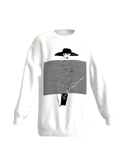 Imagination stripes loose sweatshirt