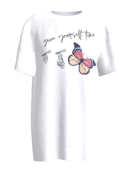 GIVE YOURSELF TIME WHITE T-SHIRT