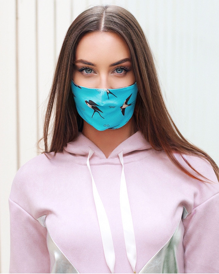BLUE SWALLOW MASK - 1 PIECE