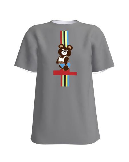 OLYMPIC BEAR PRINT T-SHIRT DARK GREY