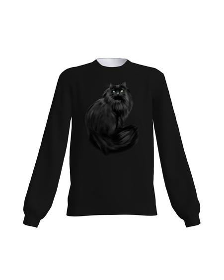 BLACK CAT SWEATSHIRT BLACK