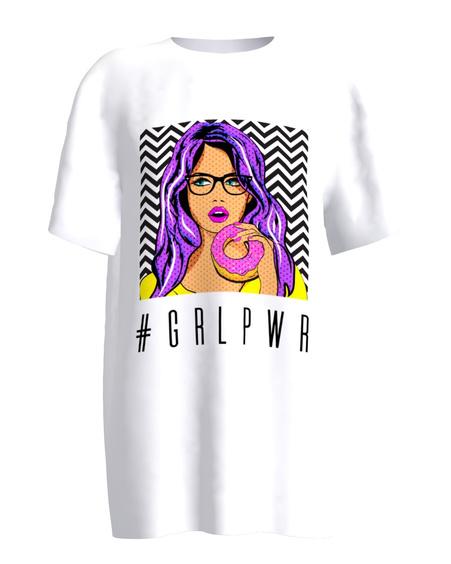 #girlpower white t-shirt