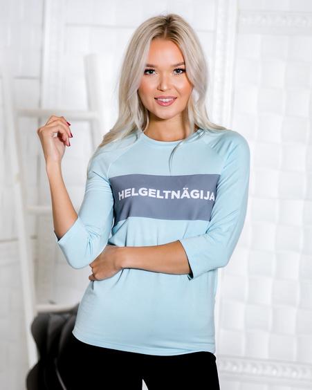 LIGHT BLUE HELGELTNÄGIJA QUARTER BLOUSE